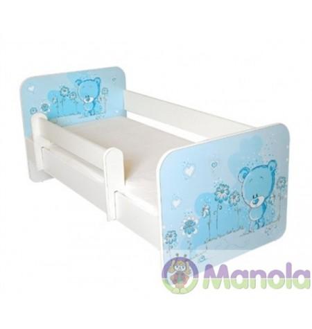 Manola B Blue bear gyerekágy levehető leesésgátlóval