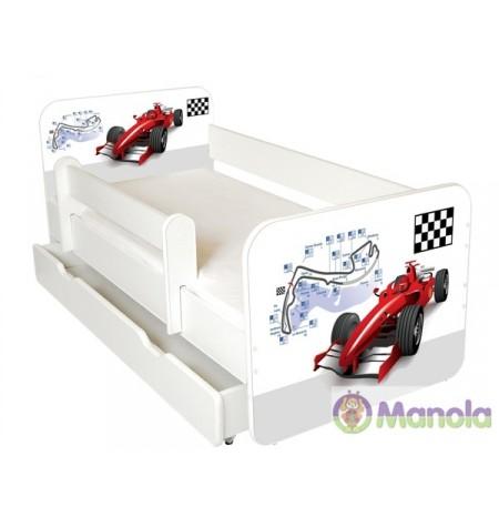Manola B formula ágyneműtartós gyerekágy levehető leesésgátlóval