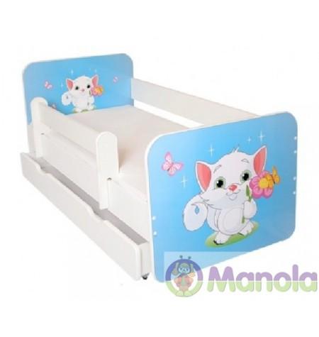 Manola B Cicó ágyneműtartós gyerekágy levehető leesésgátlóval