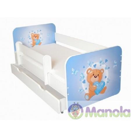 Manola B Brumi ágyneműtartós gyerekágy levehető leesésgátlóval