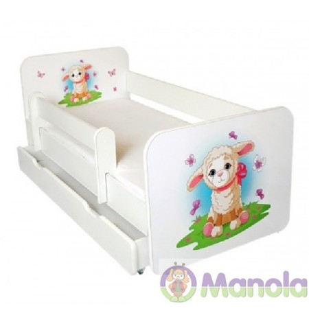 Manola B Bárány ágyneműtartós gyerekágy levehető leesésgátlóval