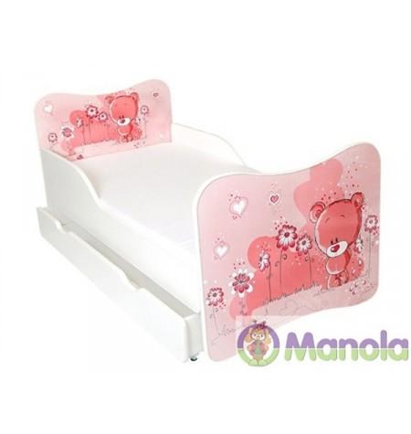 Manola A Rose Bear gyerekágy ágyneműtartóval