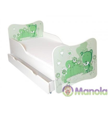 Manola A Green Bear gyerekágy ágyneműtartóval