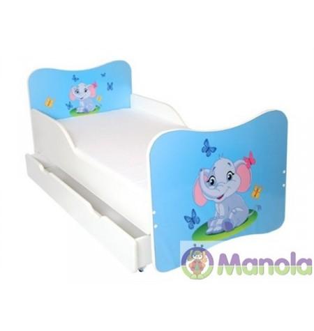 Manola A Elefánt gyerekágy ágyneműtartóval