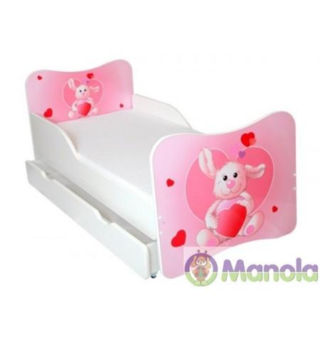 Manola A Nyuszi gyerekágy ágyneműtartóval