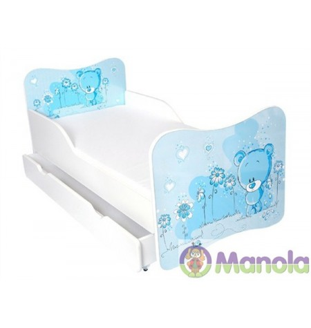 Manola A Blue Bear gyerekágy ágyneműtartóval
