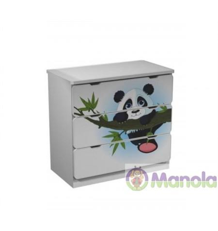 Manola Panda gyerekszoba komód választható mintával