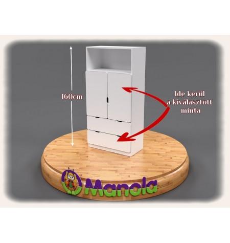 Manola DM gyerekszoba szekrény választható mintával