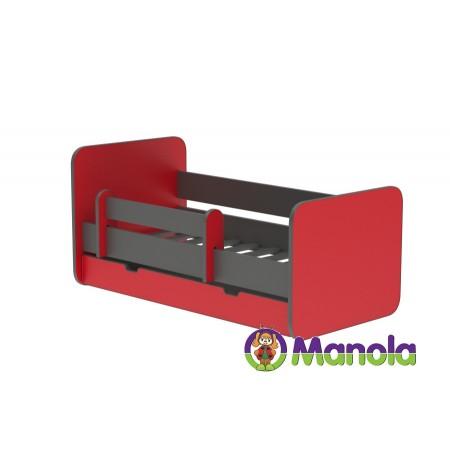 Manola C RED prémium ágyneműtartós gyerekágy