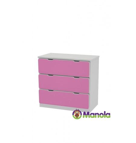 Manola C Pink prémium gyerekszoba komód