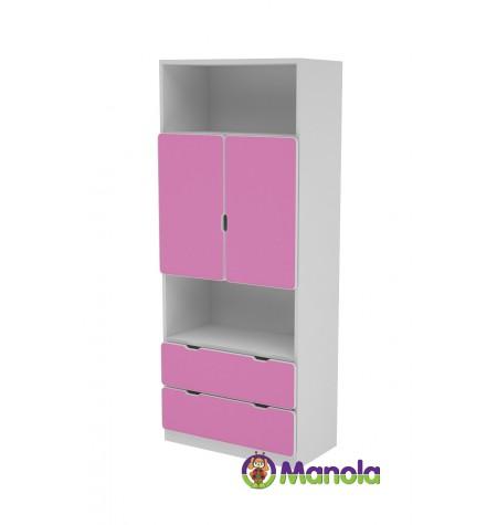 Manola C Pink MB gyerekszoba szekrény