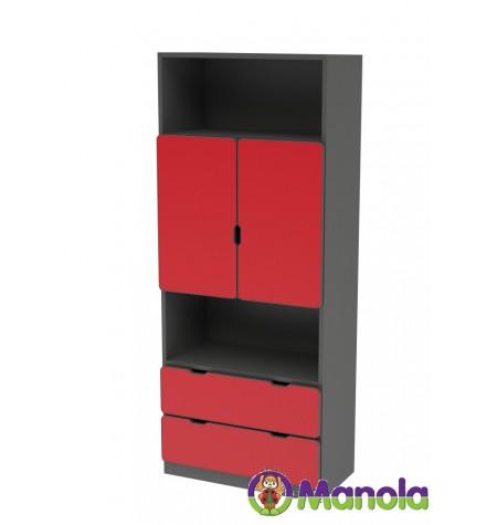 Manola C Red MB gyerekszoba szekrény