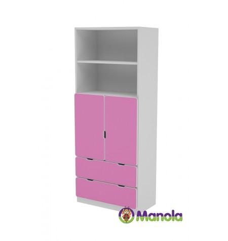 Manola C Pink DB gyerekszoba szekrény