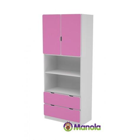 Manola C Pink UB gyerekszoba szekrény