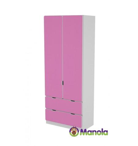 Manola C Pink D2B gyerekszoba szekrény