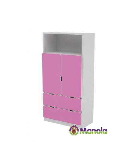 Manola C Pink DM gyerekszoba szekrény
