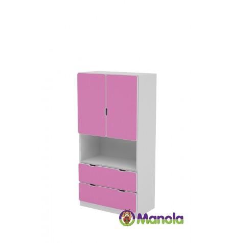 Manola C Pink UM gyerekszoba szekrény