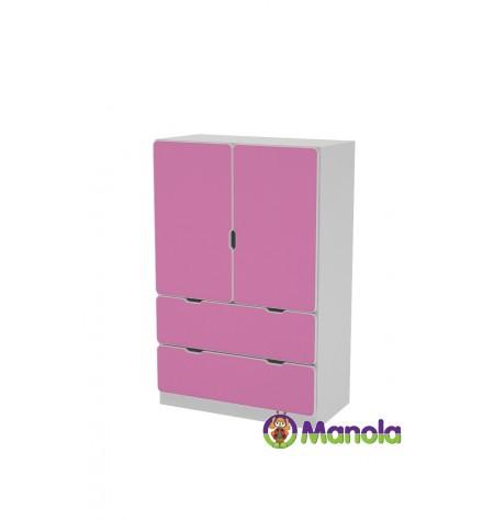Manola C Pink UL gyerekszoba szekrény