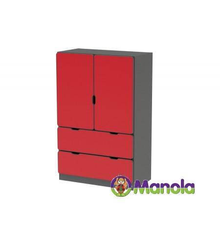 Manola C Red UL gyerekszoba szekrény