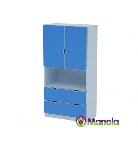 Manola C Blue UM gyerekszoba szekrény