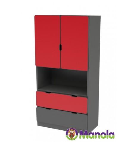 Manola C Red UM gyerekszoba szekrény