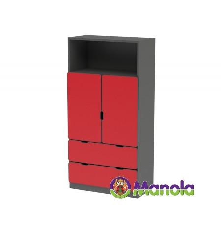 Manola C Red DM gyerekszoba szekrény
