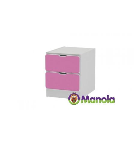 Manola C Pink prémium gyerekszoba éjjeliszekrény