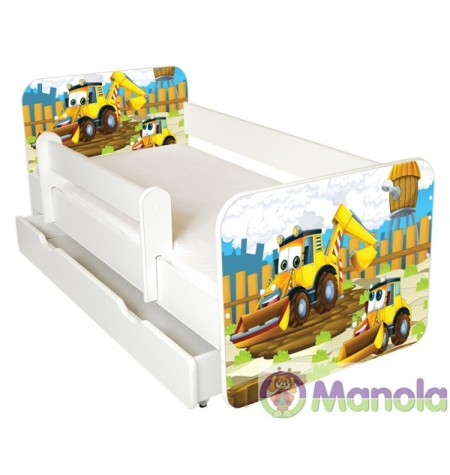 Manola B Markolós ágyneműtartós gyerekágy levehető leesésgátlóval