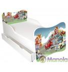 Manola A Tűzoltó gyerekágy ágyneműtartóval