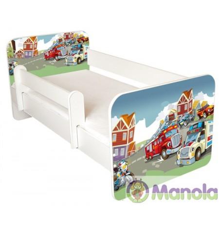 Manola B Tűzoltó gyerekágy levehető leesésgátlóval