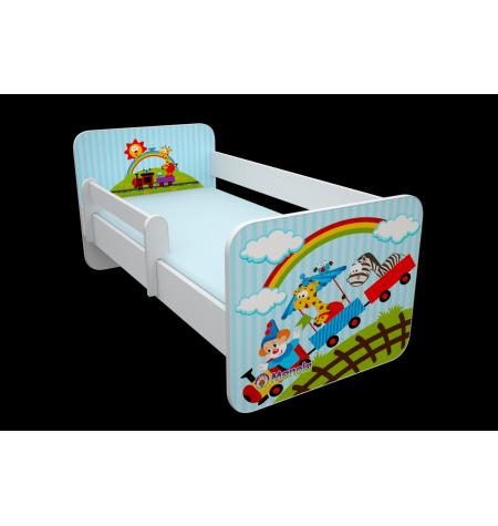 Manola B vonat 02 gyerekágy levehető leesésgátlóval