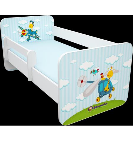 Manola B Repülős 2 gyerekágy levehető leesésgátlóval