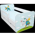 Manola B repülős ágynemütartós gyerekágy levehetö leesésgátlóval
