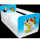 Manola B zoo 6 ágynemütartós gyerekágy levehetö leesésgátlóval