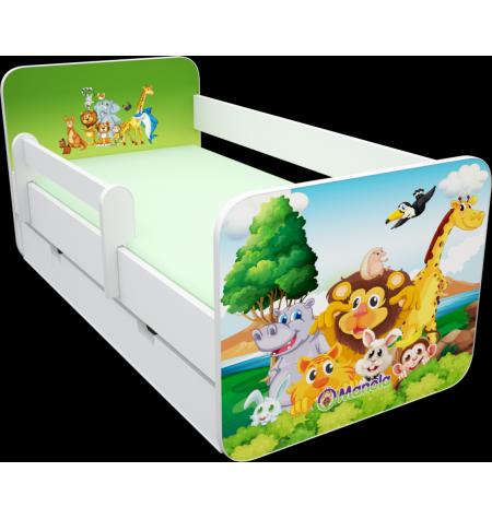 Manola B zoo 3 ágynemütartós gyerekágy levehetö leesésgátlóval