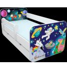 Manola B űrhajós 3 ágynemütartós gyerekágy levehetö leesésgátlóval