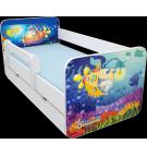 Manola B tenger ágynemütartós gyerekágy levehetö leesésgátlóval