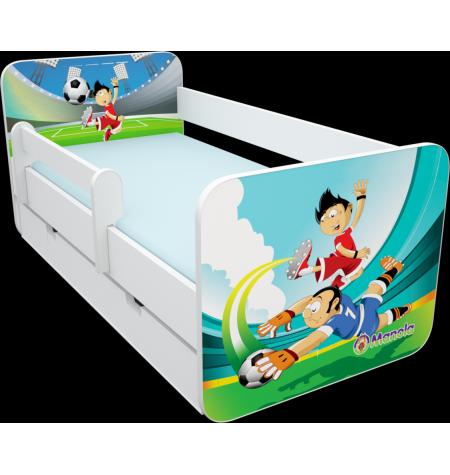 Manola B foci 2 ágynemütartós gyerekágy levehetö leesésgátlóval