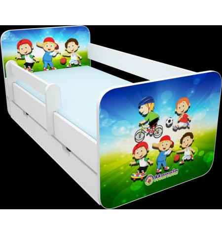 Manola B Sport ágynemütartós gyerekágy levehetö leesésgátlóval