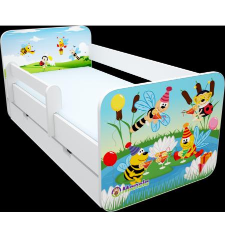 Manola B zümis ágynemütartós gyerekágy levehetö leesésgátlóval