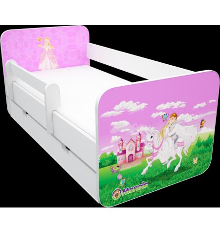 Manola B hercegnős 2 ágynemütartós gyerekágy levehetö leesésgátlóval