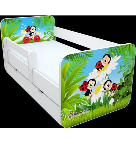 Manola B Katicás ágynemütartós gyerekágy levehetö leesésgátlóval