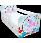 Manola B Póni 2 ágynemütartós gyerekágy levehetö leesésgátlóval