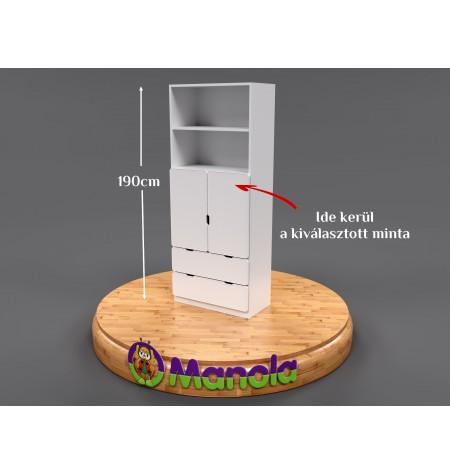 Manola DB gyerekszoba szekrény választható mintával