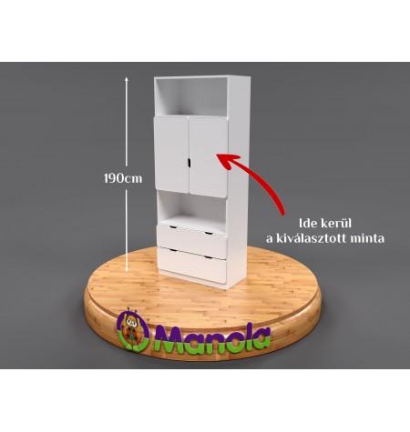 Manola MB gyerekszoba szekrény választható mintával