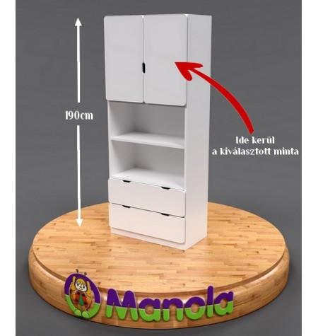Manola UB gyerekszoba szekrény választható mintával