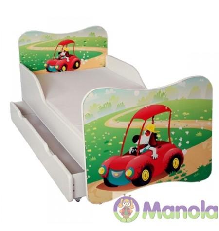 Manola A Autós gyerekágy ágyneműtartóval
