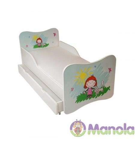 Manola A Kislány gyerekágy ágyneműtartóval