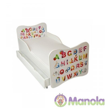 Manola A ABC gyerekágy ágyneműtartóval