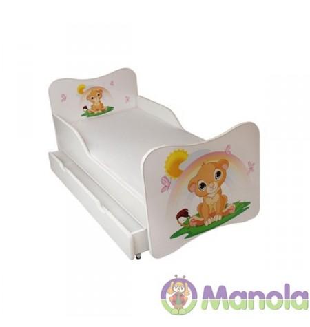 Manola A Oroszlán gyerekágy ágyneműtartóval